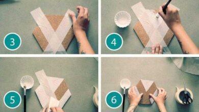 Foto de Como fazer mural de cortiça geométrico