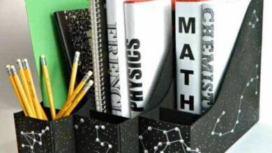 Como fazer um porta livros com material reciclado rr4