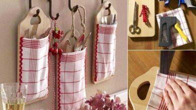 Artesanato com utensílios de cozinha