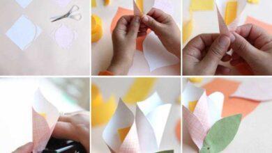 Como fazer copos de leite de papel