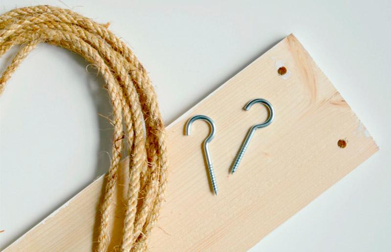 Material para prateleira de corda