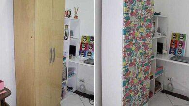 Como reformar armário com tecido