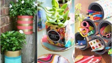 Foto de Exemplos reciclagem usada na decoração
