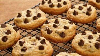 Receita de cookies com gota de chocolate
