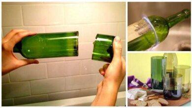 Como cortar garrafa de vidro com barbante 1q