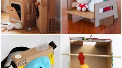 Foto de Ideias de Brinquedos com Caixa de Papelão