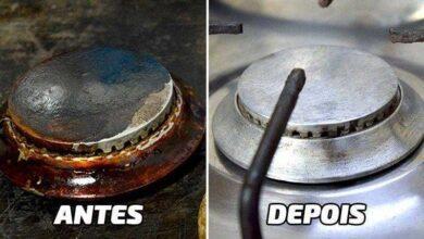 Como limpar as peças do fogão sem sofrer