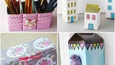 11 Artesanatos com Caixa de Leite