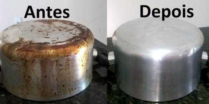 Como limpar panelas queimadas de gordura