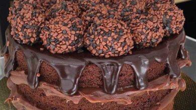 Como fazer Naked Cake de Brigadeiro