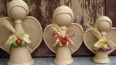 Como fazer anjo artesanal decorativo