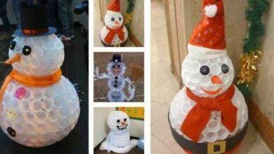 Como fazer Boneco de Neve com Copos Descartáveis