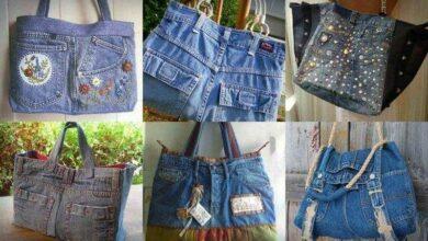 Como transformar um  jeans usado em bolsa
