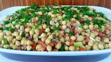 Foto de Como fazer salada de grão-de-bico