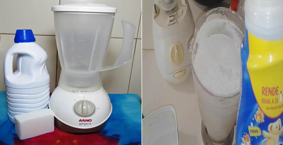 Como Fazer Sabão de Liquidificador líquido