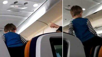"""Foto de Criança """"incontrolável"""" grita durante voo de 8 horas"""
