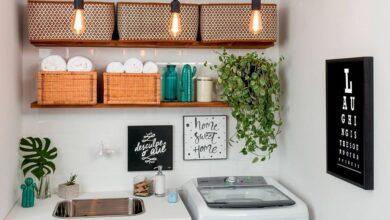 Foto de 30 ideias para te inspirar a decorar a lavanderia