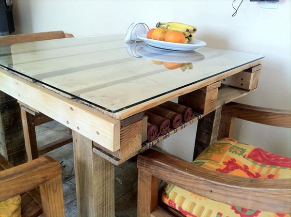 mesa pallet de jantar