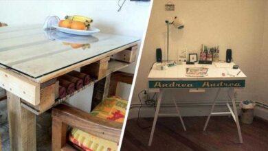 Foto de 16 Ideias para transformar pallet em uma mesa exclusiva