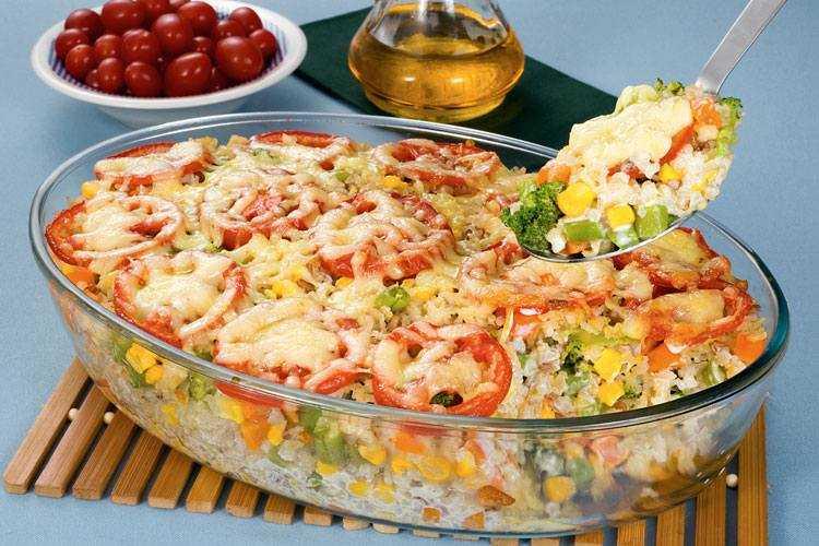 Arroz de forno com legumes