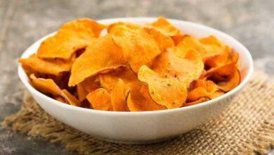 Foto de Chips de cenoura saudável e nutritivo