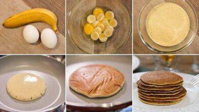 Como fazer panquecas de banana e aveia