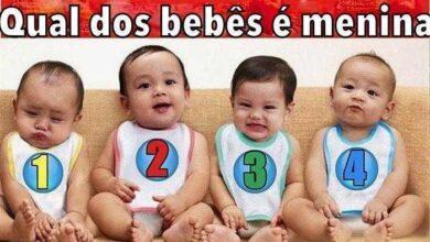 Teste psicológico - adivinhe qual dos 4 bebês é menina