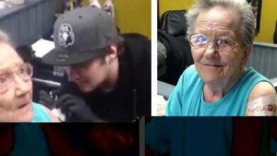 Idosa de 79 anos foge de abrigo dos idosos para fazer sua primeira tatuagem