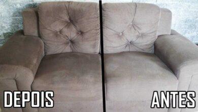 Foto de Mistura caseira para limpar sofá sujo e com odores