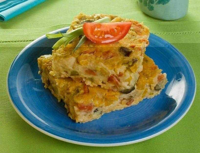 Torta de legumes com aveia ws