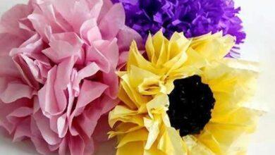 Como Fazer Flores de Papel Seda para Decoração de Festa