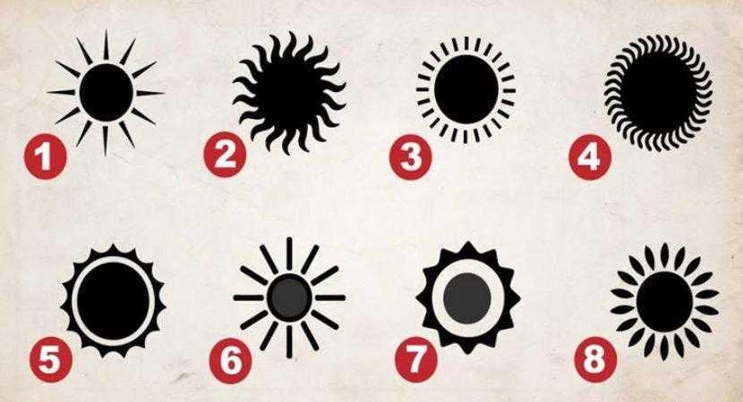 Escolha o sol que mais lhe agrada e descubra mais sobre si e suas principais qualidades