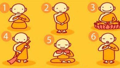 Escolha um monge budista e revele uma mensagem poderosa