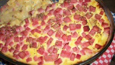 Foto de Receita de Batatas ao molho de presunto e queijo