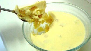 Receita de gelatina de abacaxi com leite condensado