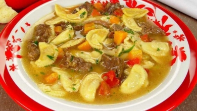 Receita de sopa de ravióli