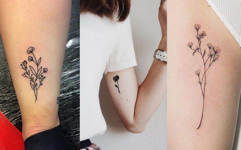 tatuagem flores 21
