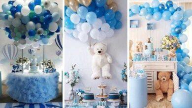 Foto de 22 Ideias de decoração de festa em tom azul