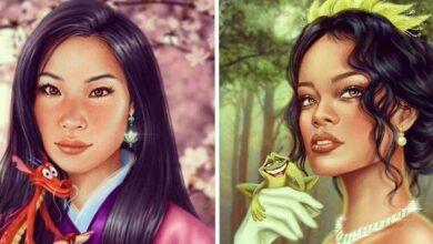 Foto de Artista mostra como seriam algumas famosas se fossem princesas da Disney
