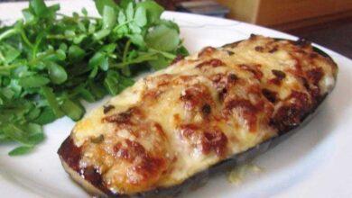 Foto de Berinjela recheada com frango e queijo