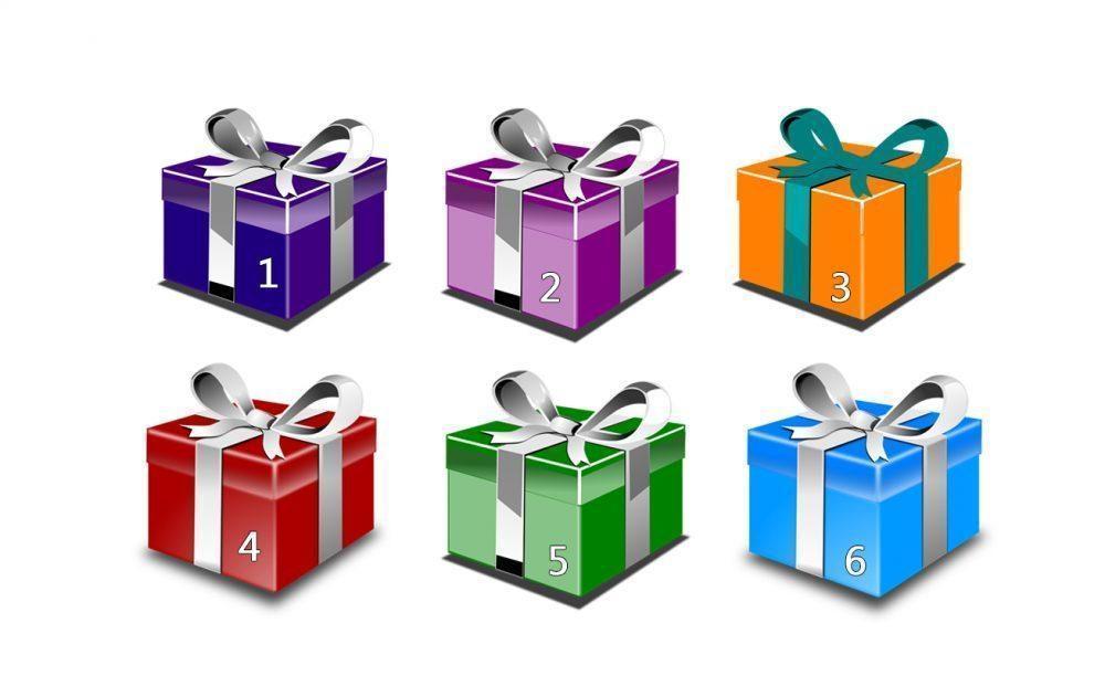 Escolha uma das caixas e veja seu presente material e espiritual