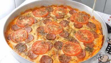 Foto de Pizza caseira de liquidificador maravilhosa e pratica