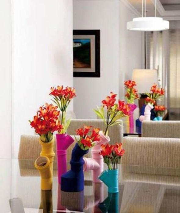 Como usar canos de PVC na decoração de ambientes 011