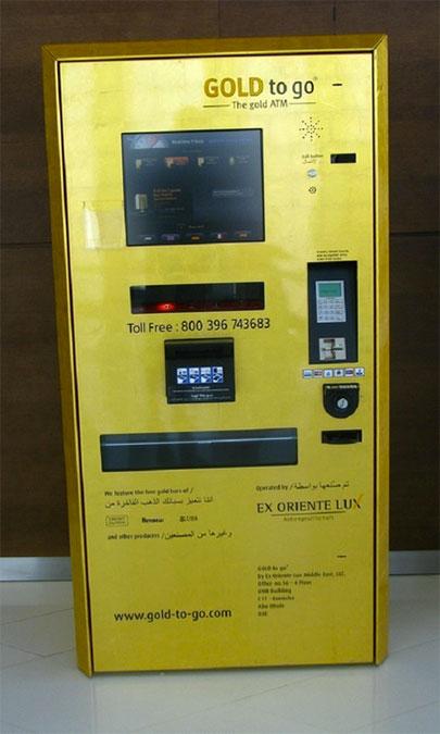 Caixa eletrônico de ouro