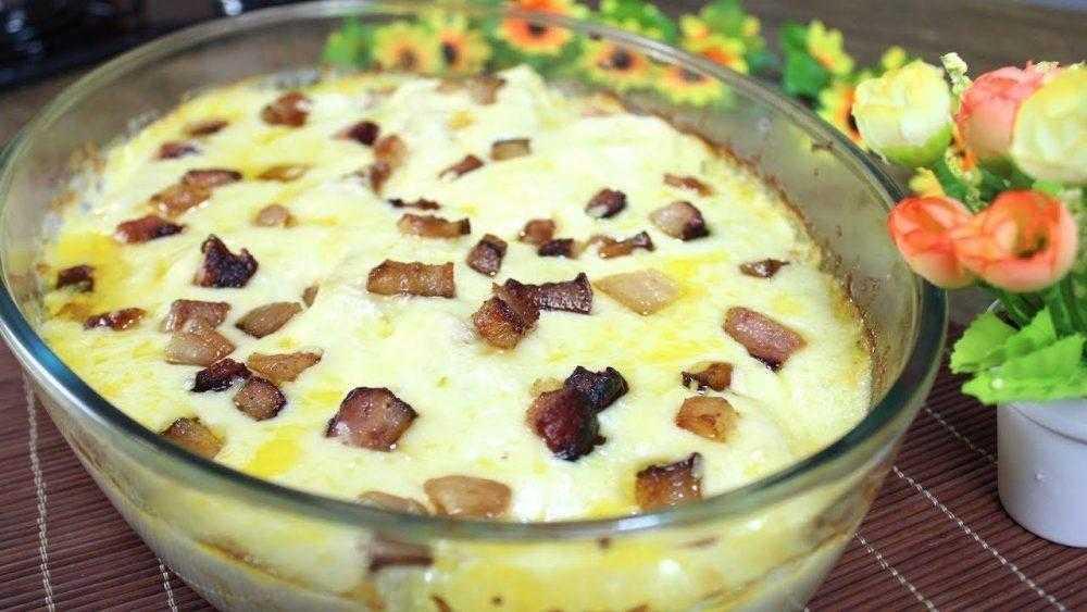Mandioca de forno gratinada com bacon   Baú das DICAS