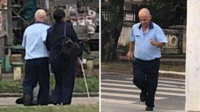Foto de Motorista para ônibus pra ajudar senhora cega a atravessar rua e comove passageiros em SP