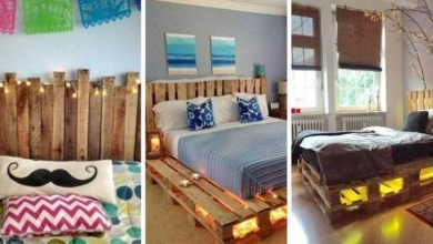 Foto de 16 Ideias belíssimas com paletes para decorar o quarto