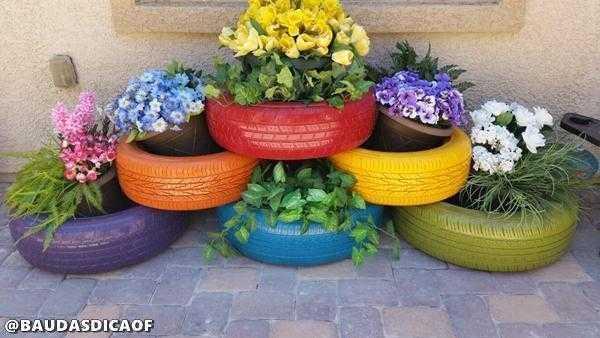 6175a6c2d1a9ee0d1cbbbe7991ac985f 16 Ideias para reaproveitar pneus no seu jardim