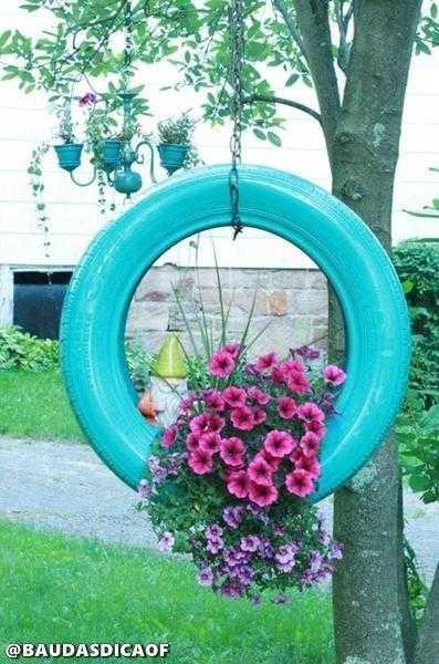 70a8acb5228aeb24afe431c9f2b7ec33 16 Ideias para reaproveitar pneus no seu jardim