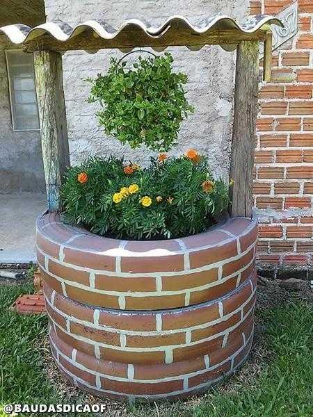 718c7b85faa63544050f84585f09f9b6 16 Ideias para reaproveitar pneus no seu jardim